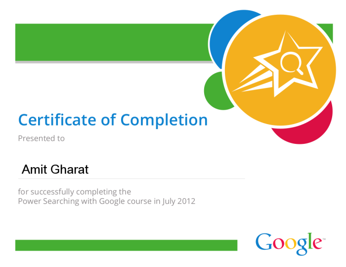 Power Searching with Google Certification
